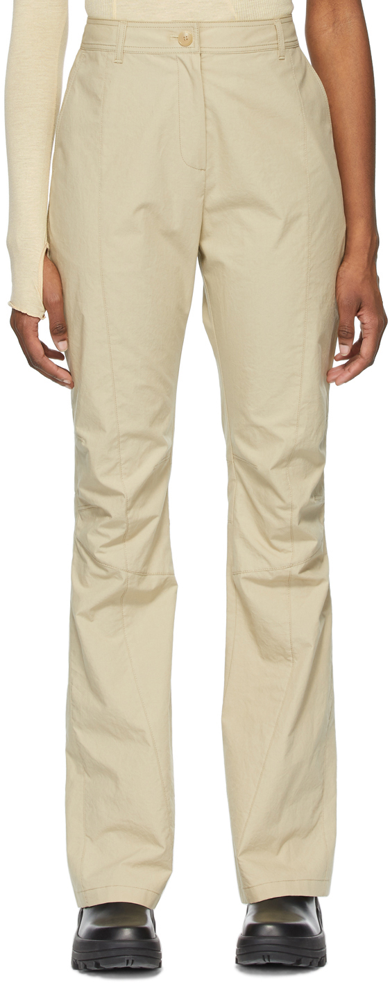 SSENSE Exclusive Beige Boot Cut Trousers