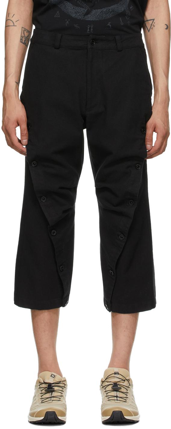 Black Wavy Trousers