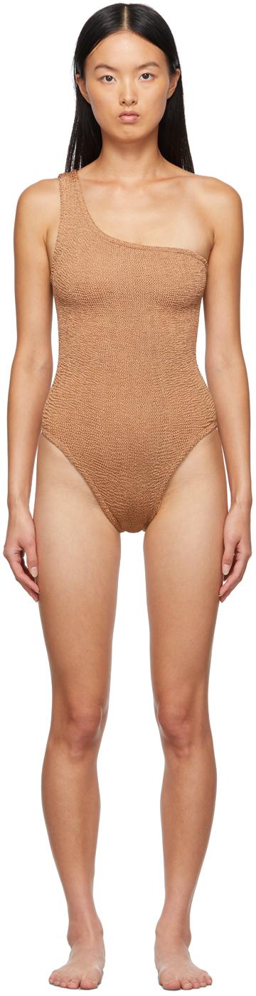 Tan Nancy One-Piece Swimsuit