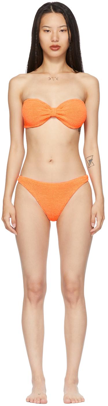 Orange Jean Bikini