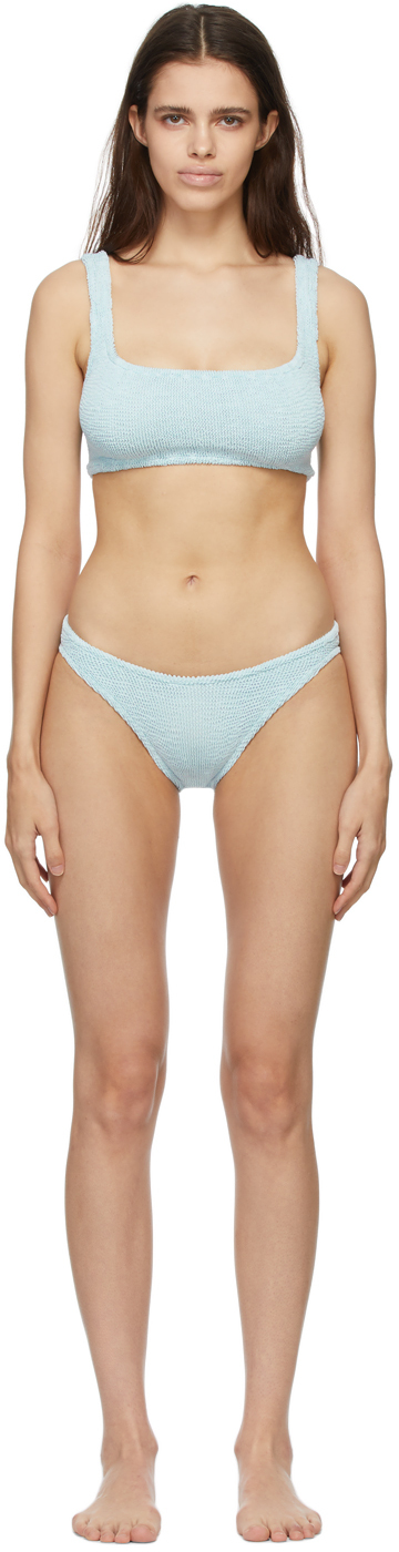 Blue Cropped Xandra Bikini
