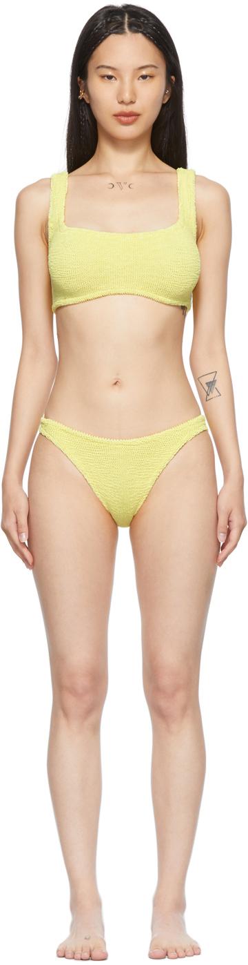 Yellow Cropped Xandra Bikini