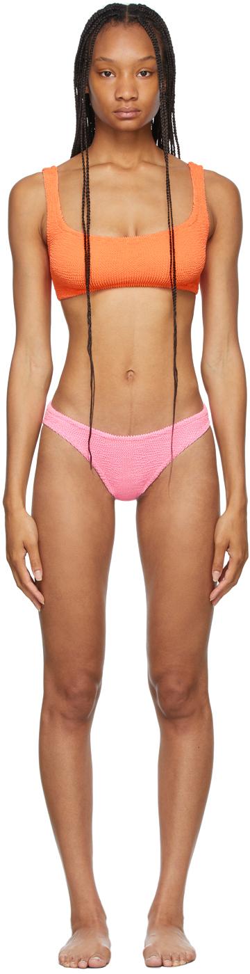 Orange & Pink Cropped Xandra Bikini