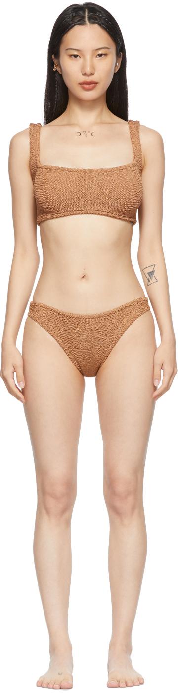 Tan Cropped Xandra Bikini