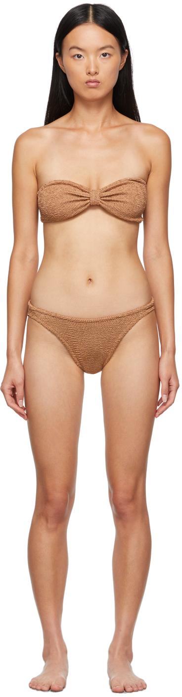 Brown Jean Bikini