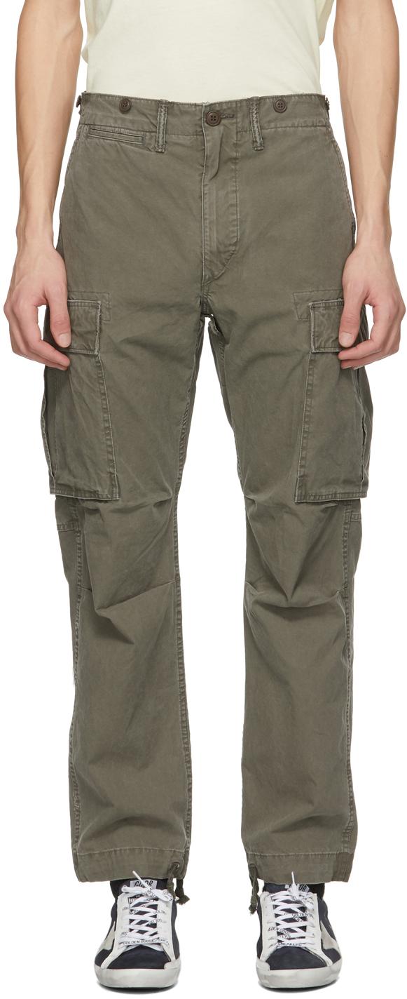 RRL 军绿色 Regular Fit Surplus 工装裤
