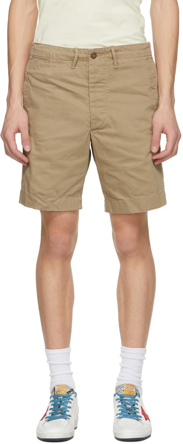 RRL 驼色 Officer Fit 短裤