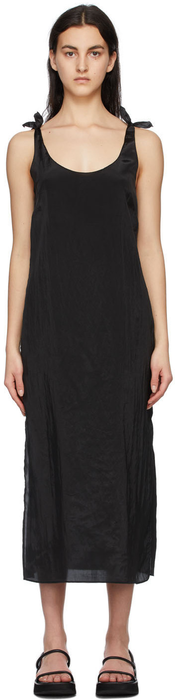 Black Tied Slip Dress