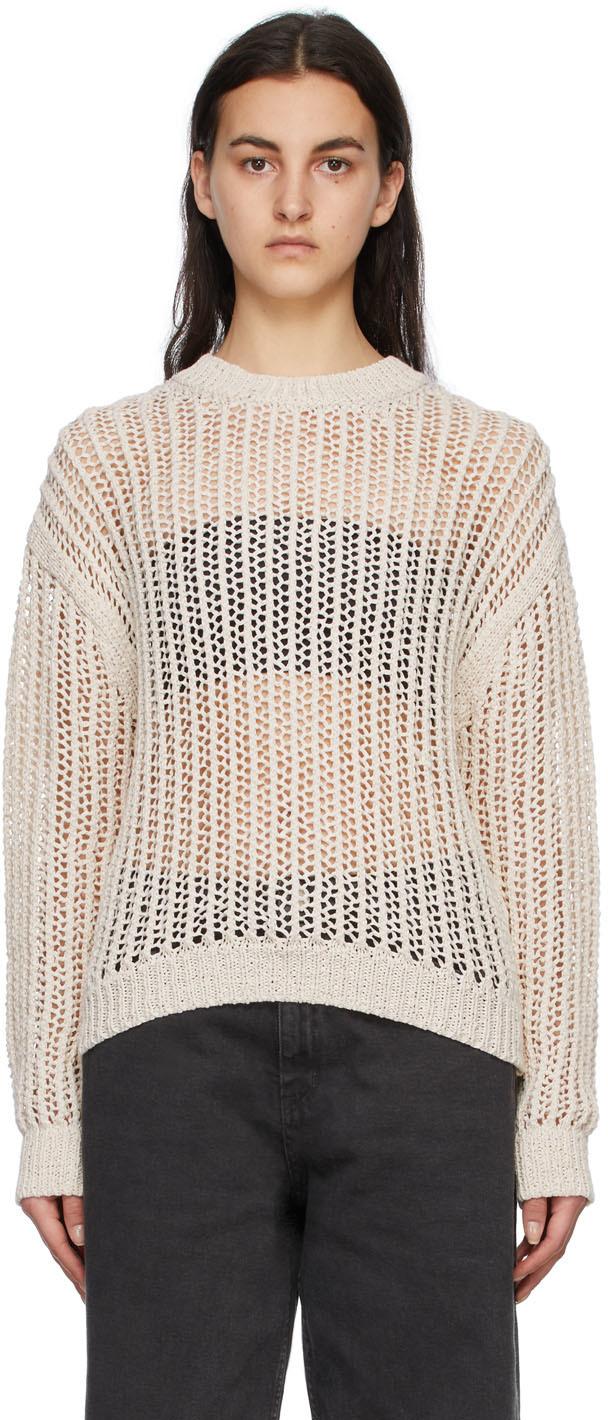 Off-White Crochet Pullover