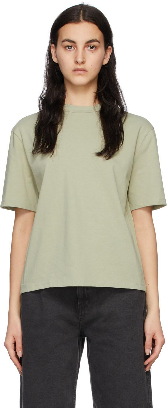 Green Mock Neck T-Shirt