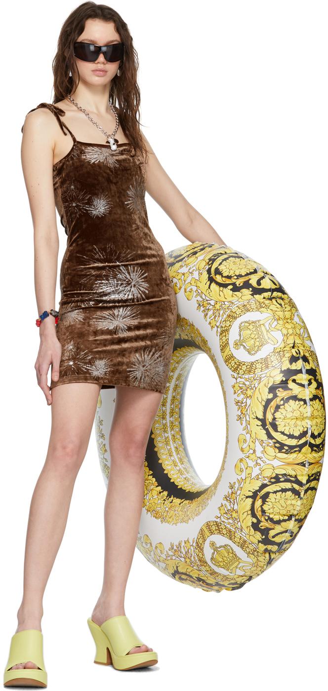 SSENSE Exclusive Brown Velvet Devore Mini Dress