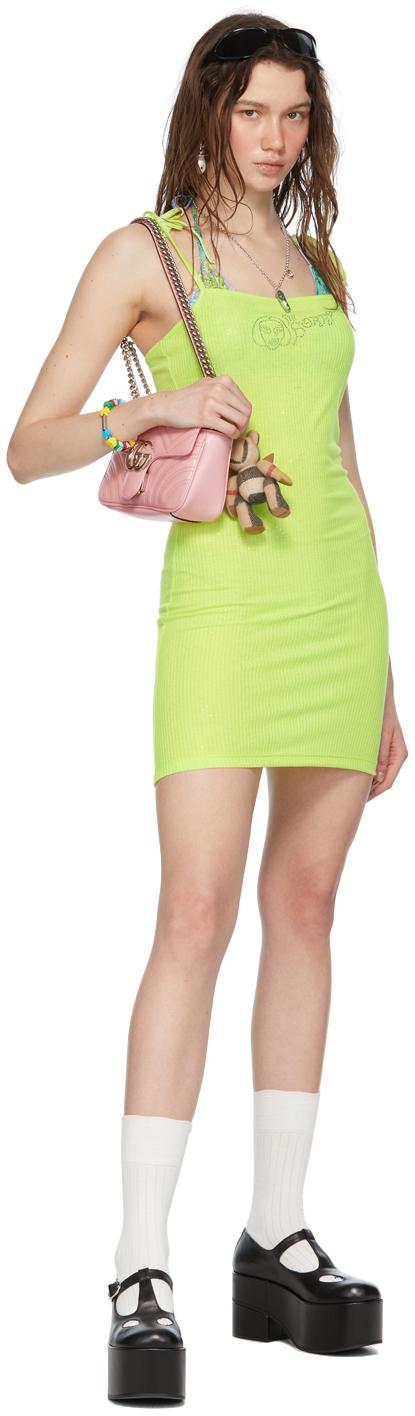 SSENSE Exclusive Green Rib Mini Dress