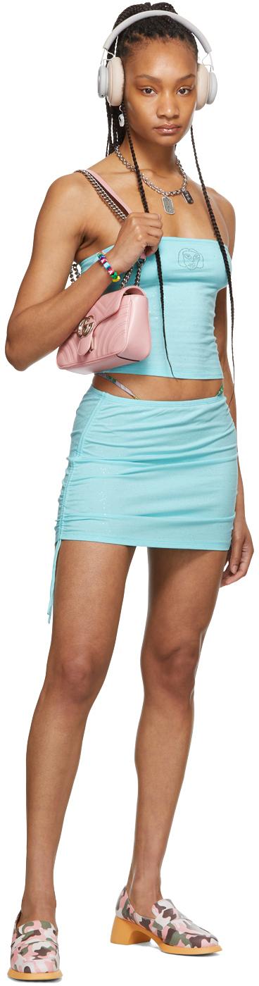 SSENSE Exclusive Blue Bandeau Top & Miniskirt Set