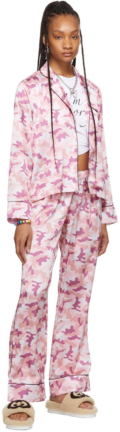 SSENSE Exclusive Pink Camo Pajama Set