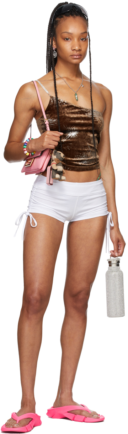 SSENSE Exclusive White Ruched Dancer Shorts