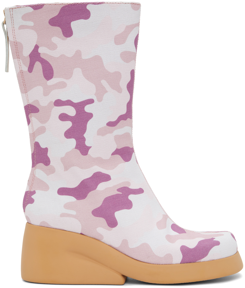 Pink Camper Edition Camo Boots