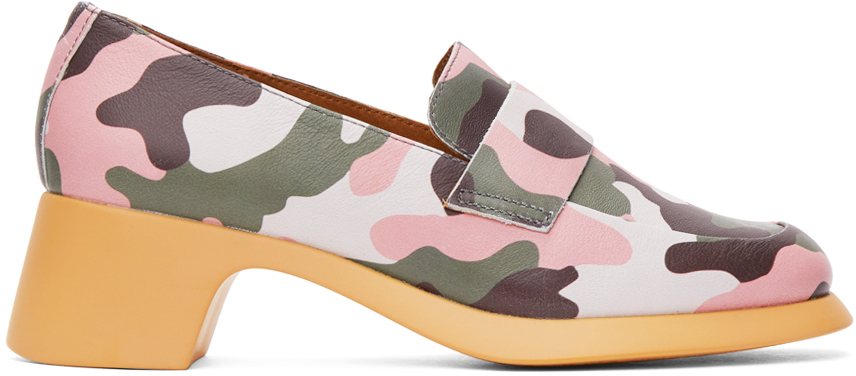 Green & Pink Camper Edition Camo Loafers