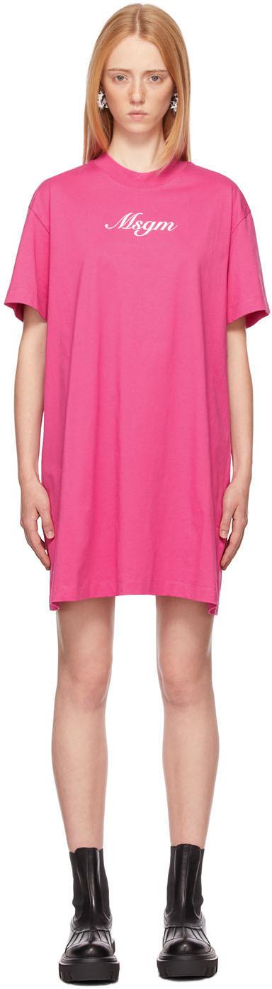 Pink Italics Logo Dress