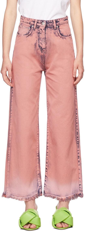 Pink Tie-Dye Denim Jeans
