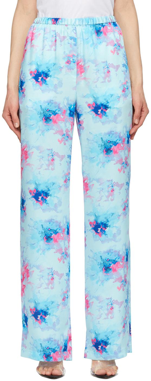 Blue Tie-Dye Lounge Pants