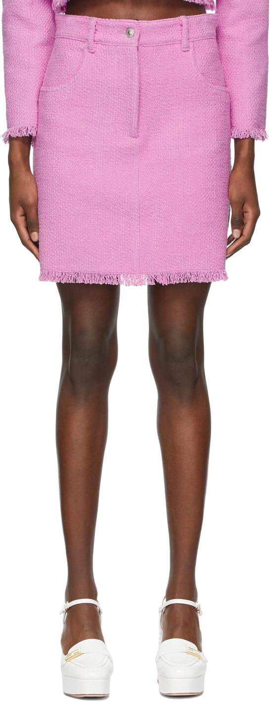Pink Tweed Miniskirt
