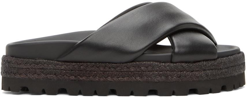 Black Cross Over Sandals