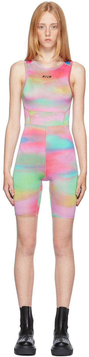 Multicolor Tie-Dye Active Jumpsuit