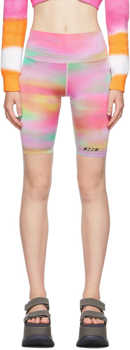 Multicolour Tie-Dye 'Active' Bike Shorts