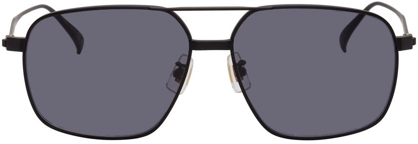 Black Titanium Aviator Sunglasses