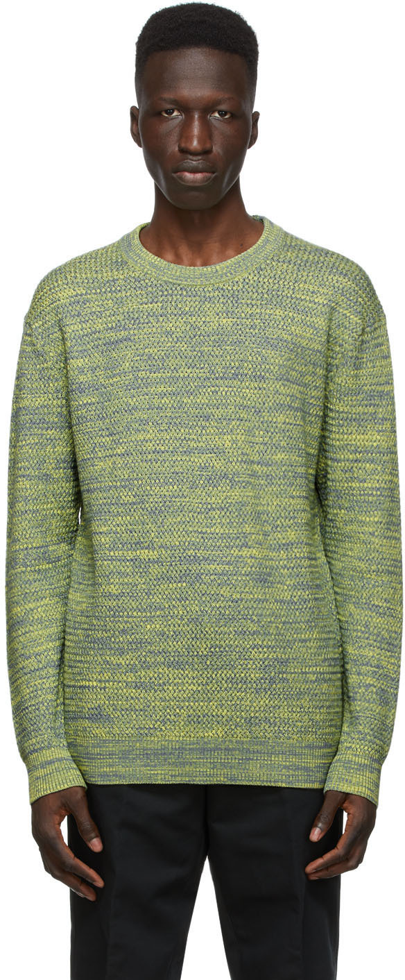 Dunhill 灰色 & 黄色夹色针织衫