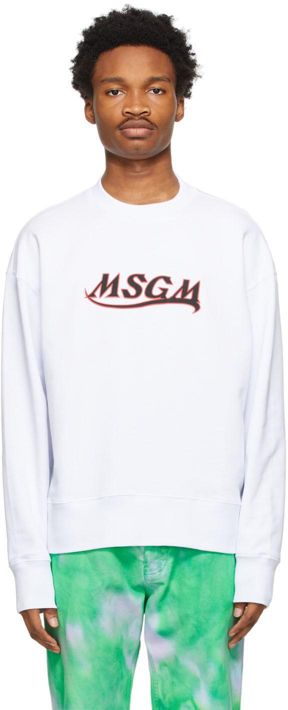 MSGM 白色 New Logo 套头衫