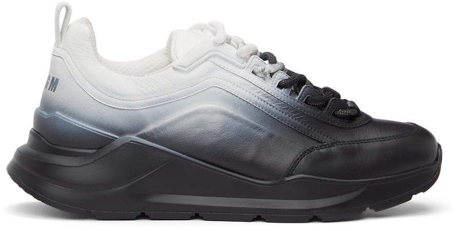 Black & White Gradient Z-Running Sneakers