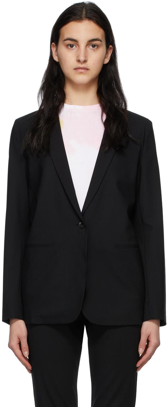 6397 Black Wool Perfect Blazer 211446F057002