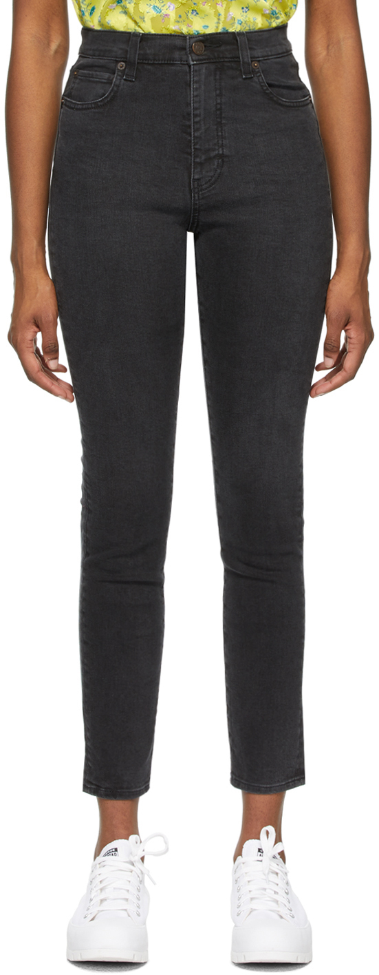 6397 Black Faded High Jeans 211446F069001