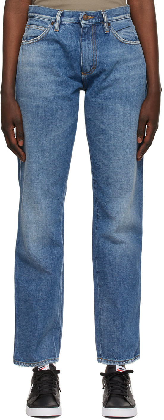 6397 Blue Straight Jeans 211446F069003