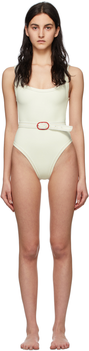 White Volley One-Piece Swimsuit