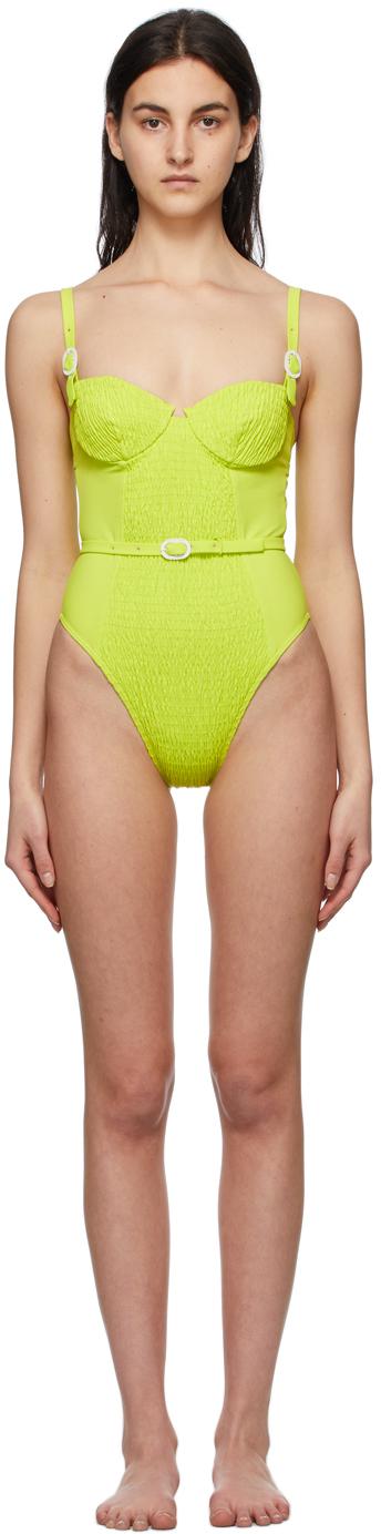 Green Anemona One-Piece Swimsuit