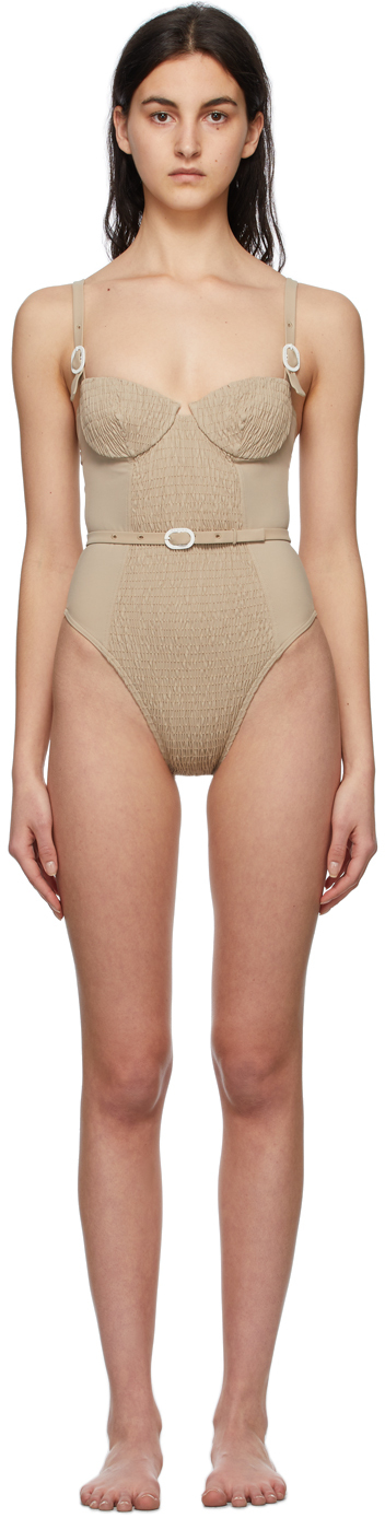 Taupe Anemona One-Piece Swimsuit