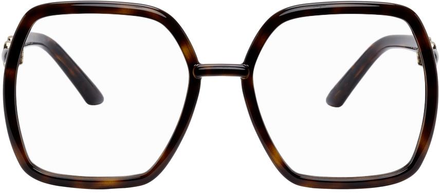 Tortoiseshell Square Horsebit Glasses