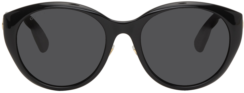 Black Cat Eye Injection Sunglasses