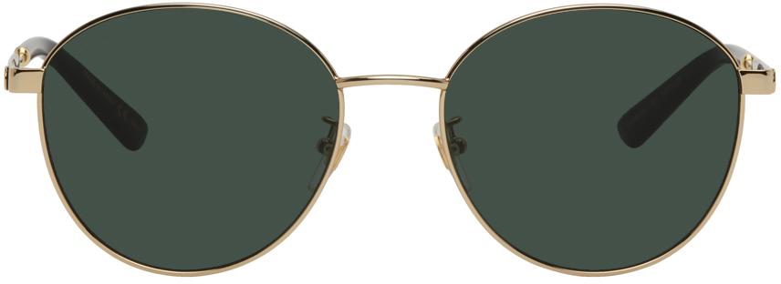 Gucci 金色圆框太阳镜