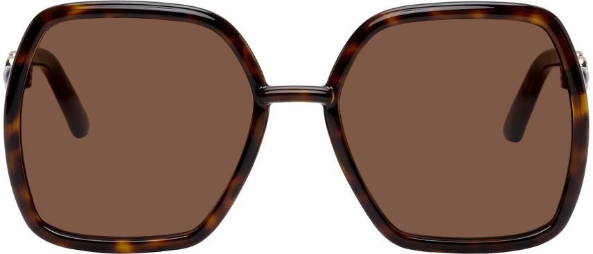 Tortoiseshell Square Horsebit Sunglasses