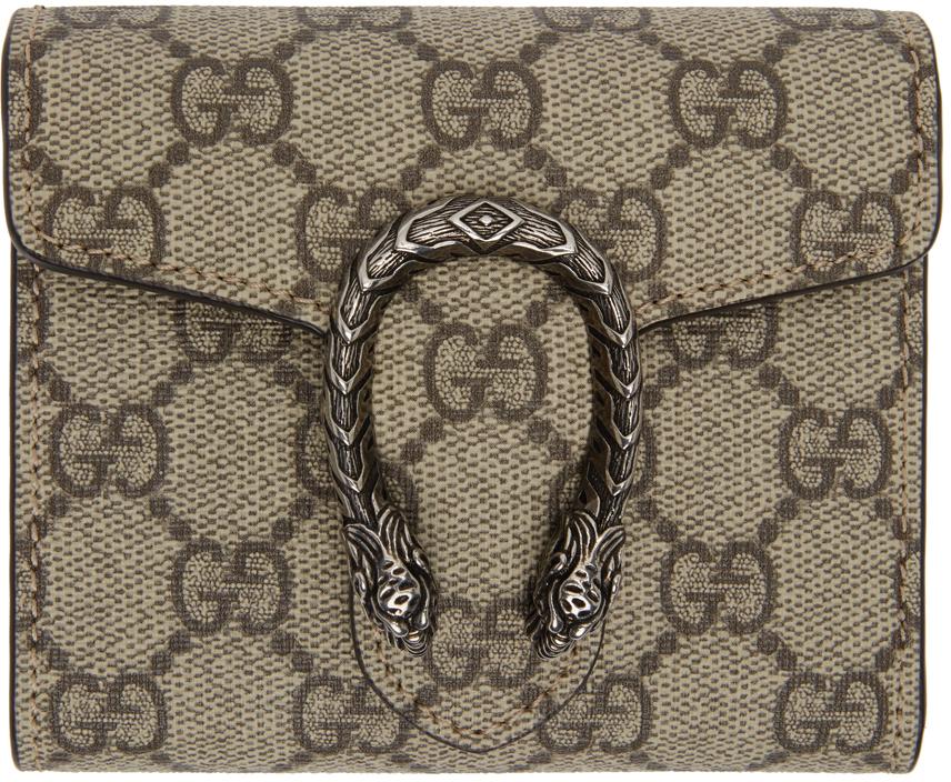 Gucci 驼色 Dionysus 钱包
