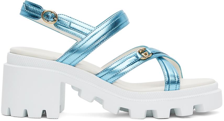 Gucci 白色束带凉鞋