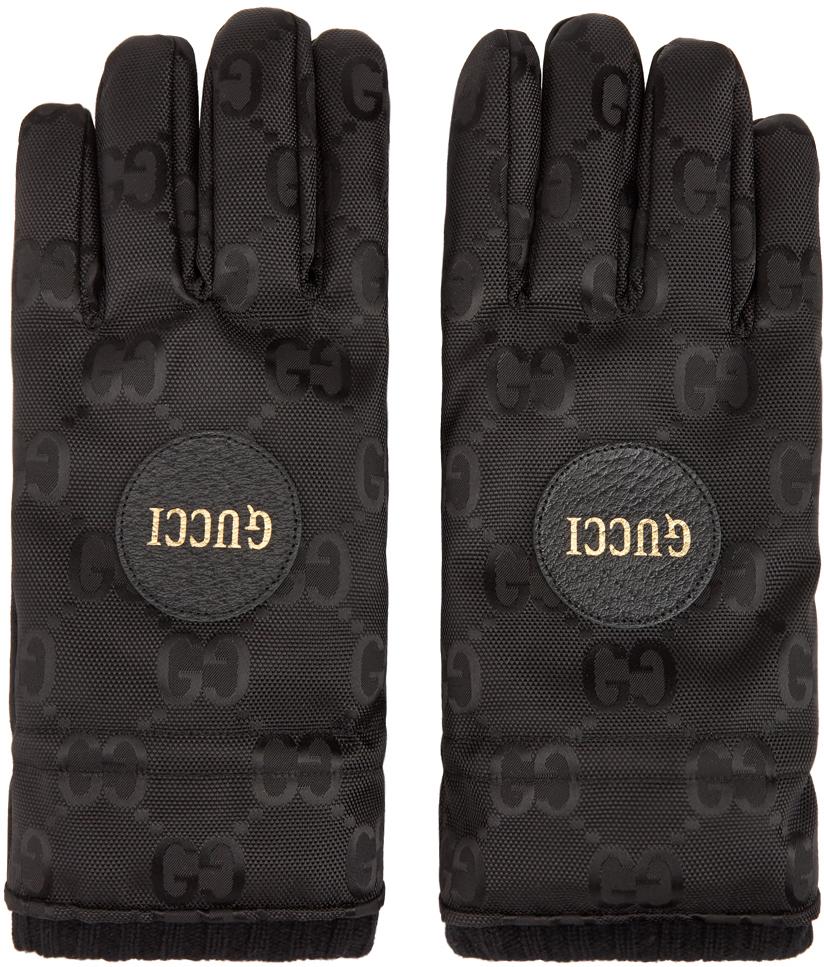Black GG Monogram Gloves