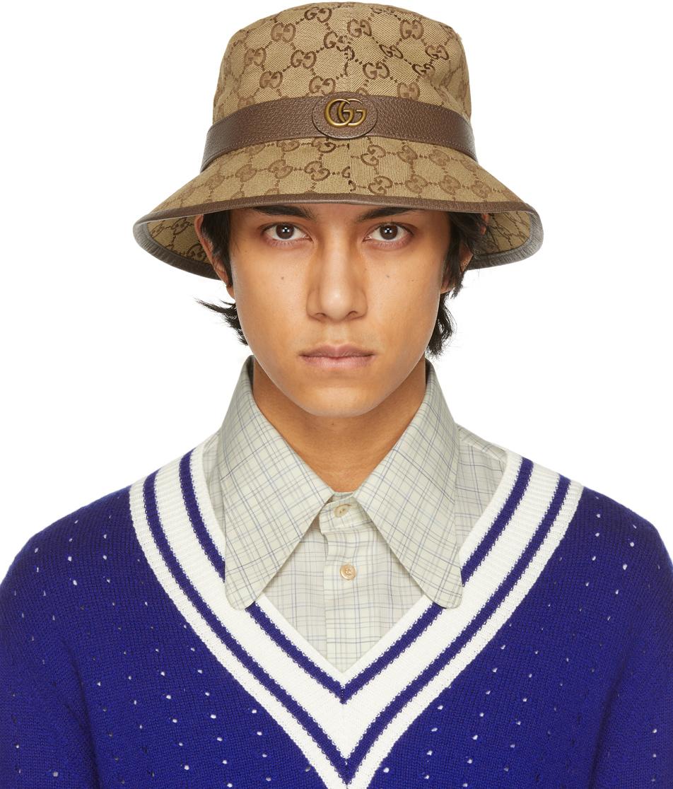 Gucci 驼色 GG 绅士帽