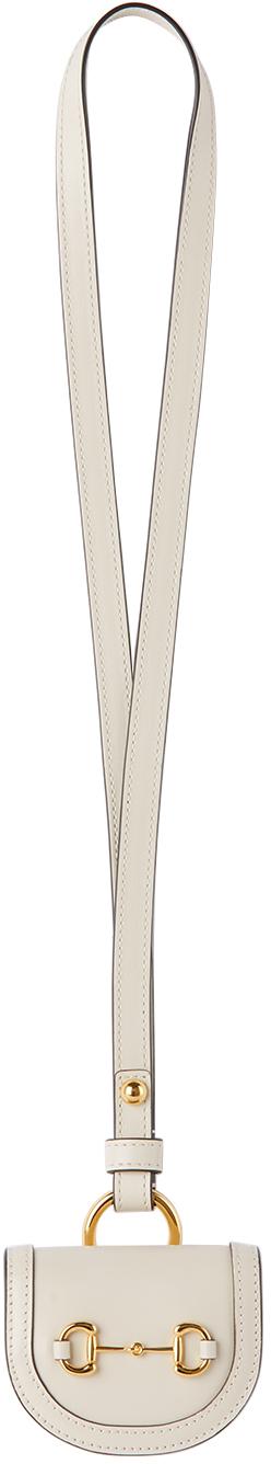Gucci 灰白色 Gucci 1955 马衔扣 AirPods 耳机保护套