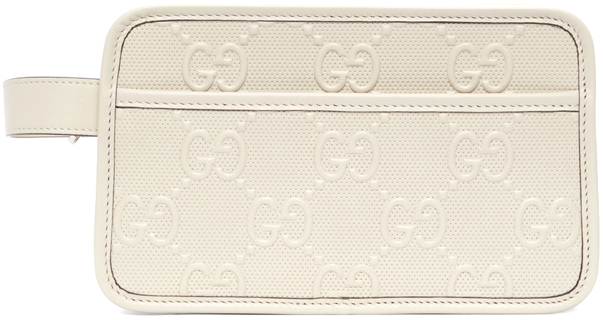 Off-White GG Embossed Cosmetic Pouch