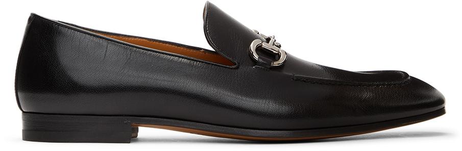 Gucci 黑色马衔扣乐福鞋