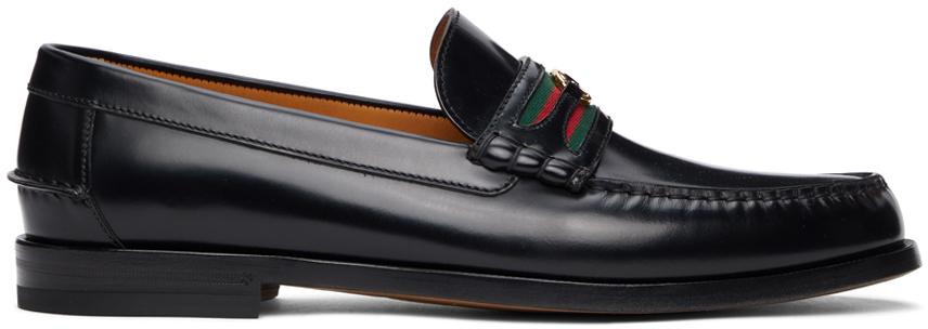 Gucci 黑色 Interlocking G 乐福鞋
